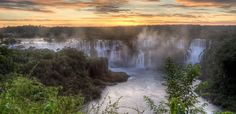 The Iguazu Falls which runs from Brazil to Argentina is known to be the most beautiful waterfall in the world. In fact it is said that the United States first lady Eleanor Roosevelt said Poor Niagara! when she first saw the Iguazu Falls. Beautiful Places In The World, Places Around The World, Around The Worlds, Places To Travel, Places To See, Travel Destinations, Travel Deals, Iguazu Falls, Argentine