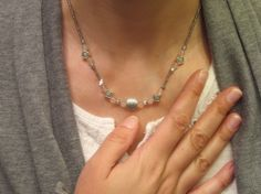 Just a Blush Rose Quartz and Silver by thousandflowerstudio, $18.00
