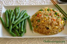 Cauliflower Fried Rice with Corn, Peas and Chinese Seasonings