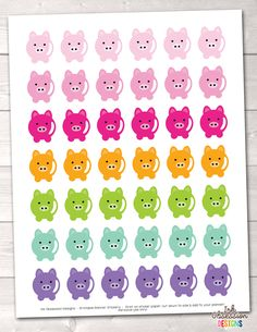 Piggy Printable Planner Stickers