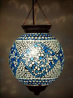 Santorini Mosaic Lantern