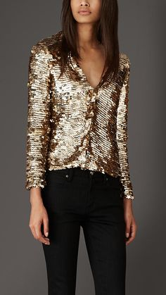 Burberry London Geometric Sequin Cardigan