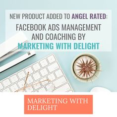 Marketing with Delight has just added two of her services to Angel Rated - her Facebook Ads Management and her Facebook Ads Coaching.   Head on over to Angel Rated to find out more about what she offers. And if you're a previous client, I'm sure she'd love you to add a review of her work.  #review #reviews #onlinebusiness #smm #facebookads Business Products, Online Business, Work Review, New Product, Top Rated, How To Find Out, Coaching, Management, Angel