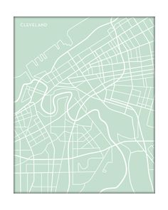 Cleveland Art Print City Map / Ohio Wall Art University Map Poster / 8x10 Digital Print / Choose your color