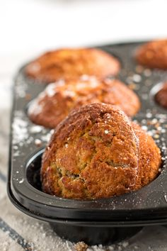 Baked Apple Muffins | savorynothings.com