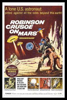 Robinson Crusoe on Mars FRIDGE MAGNET 6x8 Large Movie Poster Canvas Print