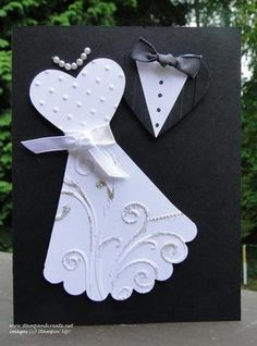Punch/die wedding creation. Just a little says a lot.  - Deborah Smart and her blog Stamp & Create with Deborah