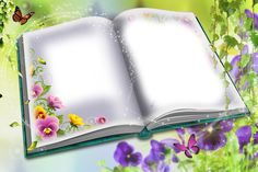 Book And Frame, Book Images, Open Book, Pens, Doodles, Greeting Cards, Clip Art, Scrapbook, Flowers