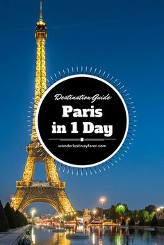 See all the major sites in Paris, France, in just one day.:
