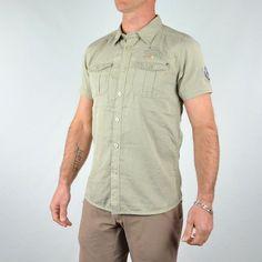#Soldes chez GGJeans : #chemisette homme #MZGZ beige à -30% !