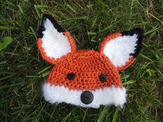Furry Fox Crochet Baby Hat by DellasNest on Etsy