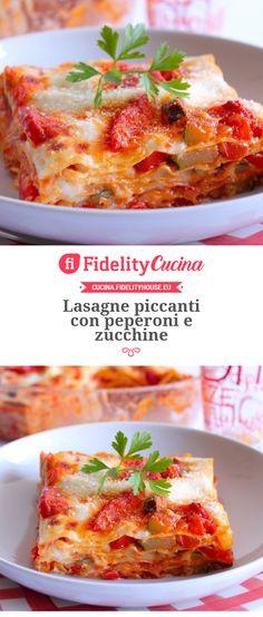 Lasagne piccanti con peperoni e zucchine