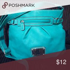 Turquoise Purse Long-strap, turquoise purse. Great-mid size purse that's very stylish and easy to carry. Bags Crossbody Bags