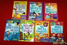 My Weird School Chapter Books Lot of 7 Dan Gutman Grades 2nd 3rd 4th Teachers Reading Levels, Chapter Books, Guided Reading, Childrens Books, Dan, Weird, Classroom, Collections, School