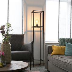 Shop for Industrial floor lamp black - Big Cage online! Industrial Floor Lamps, Industrial Lighting, Task Lighting, Gate Design, Tool Design, Console Design, Smart Design, Pendant Lamp, Cage