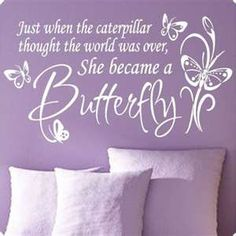 Love this! Bc MiniMe loves purple and butterflies