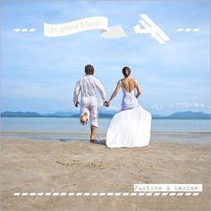 carte remerciement mariage voyage - Remerciement Mariage Personne Absente