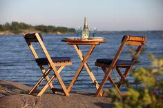 Enjoying the Swedish archipelago summer Stockholm Archipelago, Outdoor Furniture Sets, Outdoor Decor, Coastal Living, Boating, Summer Days, Scandinavian, Bucket, Holidays