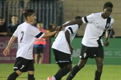Bidemi Afolabi playing for Corby Town Fc