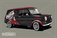 Les illustrations de christophe: Austin Mini Van (1971) / Coca-Cola