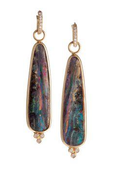 Erica Courtney ~ Boulder Opal Earrings