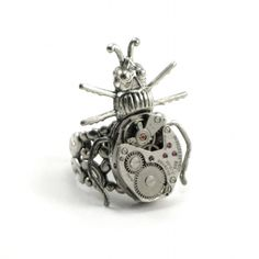 * Steampunk Curious Critter Ring *