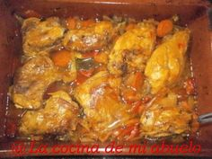 Roasted Rabbit with Tangerines - Cherilynn Duffrie Roast Rabbit, Rabbit Food, Spanish Cuisine, Spanish Food, Traditional Spanish Dishes, Rib Meat, Fish And Meat, Meat Chickens, Mediterranean Recipes