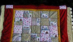 Kinderdecke kleine Eulen und Elefanten von Meine bunte Flickenecke auf DaWanda.com