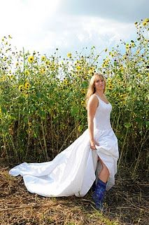 Ellis County Country Bridal Portraits - Sunflowers