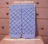 Lacy Leg Warmers free pattern / tutorial crochet