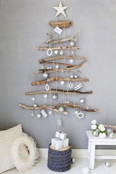 noel, christmas navidad – – 37 super easy diy christmas crafts ideas for kidslaser cut ornament wooden christmas tree ideawhat do your christmas decorations say about you Driftwood Christmas Tree, Coastal Christmas, Diy Christmas Tree, Christmas 2019, Simple Christmas, Handmade Christmas, Christmas Holidays, Christmas Ornaments, Christmas Design