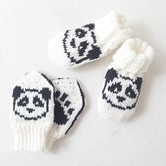 Knitting patterns for baby mittens and socks on Ravelry Panda Socks, Baby Mittens, Baby Knitting Patterns, Needles Sizes, Knits, Ravelry, Winter Hats, Animal, Knit Stitches