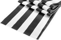 Stripe Satin Table Runner - Black & White ● As Low as $3.69