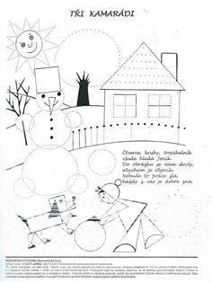 Tři kamarádi-geometrické tvary Pre School, School Kids, Worksheets, Kindergarten, Crafts For Kids, Diagram, Classroom, Pajama Day, School