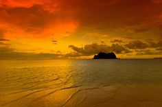Vomo Lailai at sunset, off Vomo Island, Fiji Islands Sunset Images, Fiji Islands, Sunrise, Ocean, Earth, Clouds, Wallpaper, Places, Water