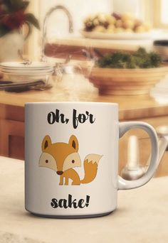 Oh for fox sake mug, Handmade, Valentines Day Gifts, valentine day gift ideas, gifts for him, gifts for her, graduation gifts, birthday gifts, mothers day gifts, fathers day gifts
