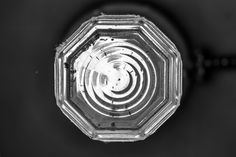 Fresnelish. seattle, washington note: not actually a fresnel lens. i don't think.