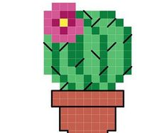 tiny cactus cross stitch PDF pattern download