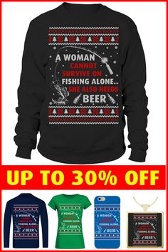This ugly Xmas sweater is perfect for fishing girls Fishing World, Ugly Xmas Sweater, Being Ugly, Sweaters For Women, Beer, Sweatshirts, Girls, Christmas, Fashion