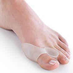 Toe Spreading Gel Bunion Shield. Smarts: Cushions bunion, reduces friction and irritation. FootSmart.com