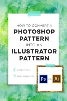 In this tutorial, we go step by step on how to convert any Photoshop pattern into an Illustrator pattern swatch in a few quick steps. Web Design, Graphic Design Tutorials, Graphic Design Inspiration, Vector Design, Photoshop Tutorial, Photoshop Design, Photoshop Actions, Motif Photoshop, Inkscape Tutorials