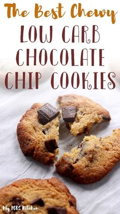 This easy keto chocolate chip cookie recipe is unbelievably chewy and soft. Learn the trick to make the most chewy keto cookies or the most crispy cookies for the ultimate sugar free treat. Sweetened with allulose and sukrin gold, you won't ever want to try another low carb chocolate chip cookie recipe again. Low Carb Chocolate Chip Cookie Recipe, Crispy Chocolate Chip Cookies, Sugar Free Chocolate Chips, Crispy Cookies, Chocolate Recipes, Sugar Free Cookies, Keto Cookies, Galletas Keto, Muffins