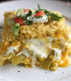 Cheesy Sweet Corn Tamale Pie