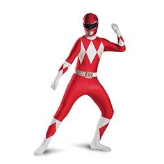 disguise  childs  red  Ranger  bodysuit  costume  red  large
