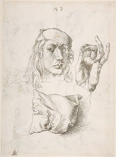 Autoportrait, étude de main et d'oreiller, Albrecht Dürer, 1493 ©Metropolitan Museum of Art