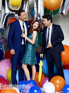 Jason Segel, Alyson Hannigan & Josh Radnor ~ How I Met Your Mother Season 9 Portraits ~ Photographed by Justine Stephens ~ August 2013: EW Portraits #ewportraits