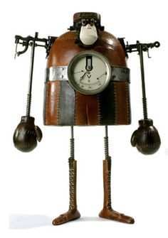 Belgian sculptor and animator Stephane Halleux builds amazing steampunk models and robots