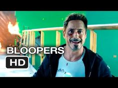 """A tease of the gag reel from """"Iron Man 3"""" (a longer version will appear on the DVD/Blu-Ray, out Sept. 24, 2013."""