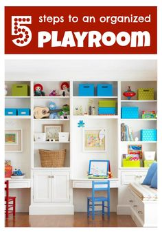 Getting organized in the new year? 5 Steps to an Organized Playroom - Tipsaholic