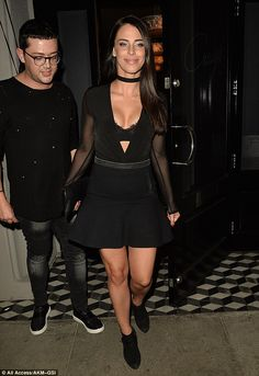 Extreme V: Jessica Lowndes showed off her fantastic figure on Thursday, as she stepped out in Hollywood wearing a black skirt and body top combo with a neckline dropped to her waist